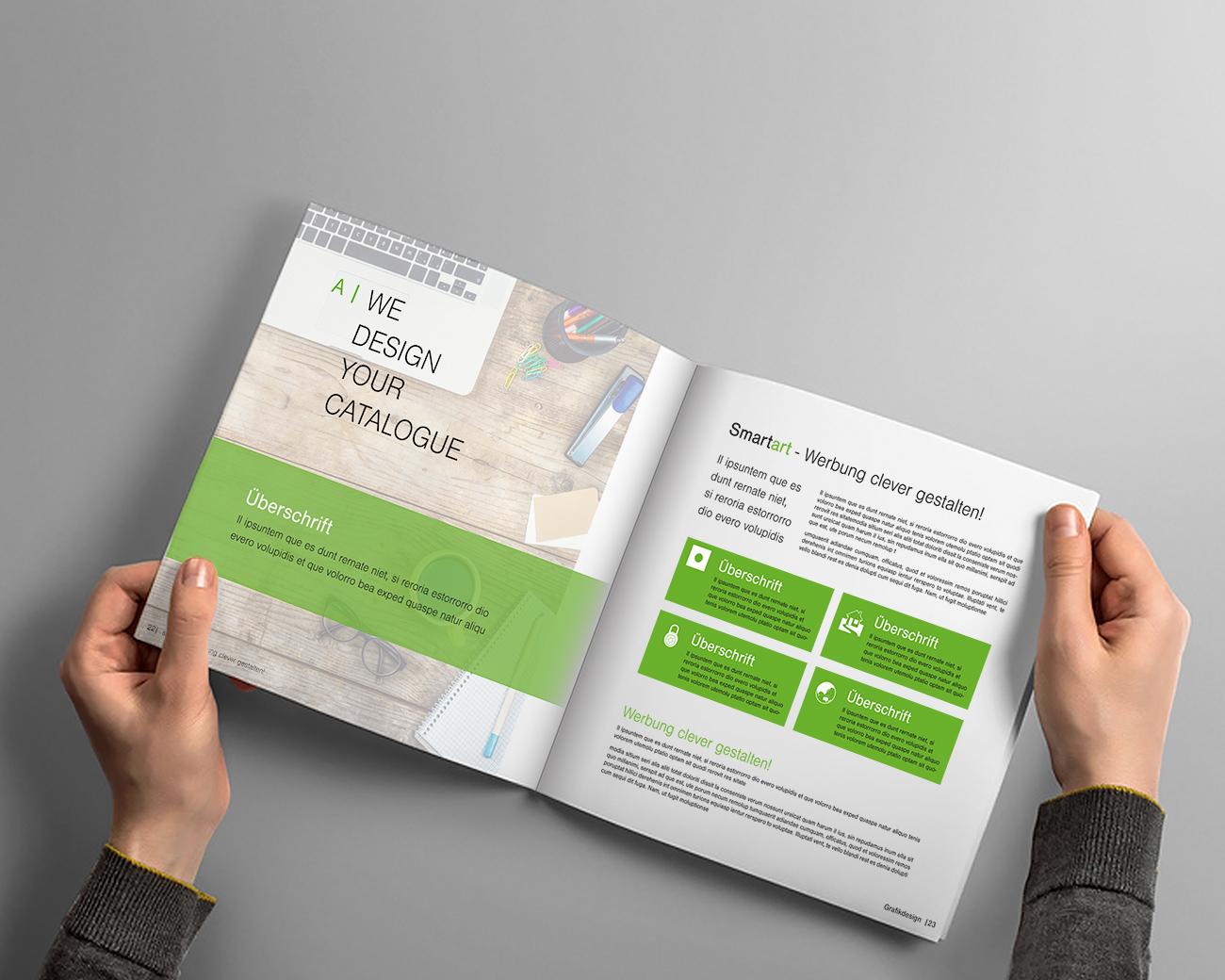 Gestaltung von Katalogen